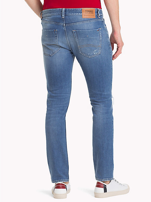 TOMMY JEANS Distressed Slim Fit Jeans - RAY LIGHT BL COM DST - TOMMY JEANS Slim Fit Jeans - detail image 1