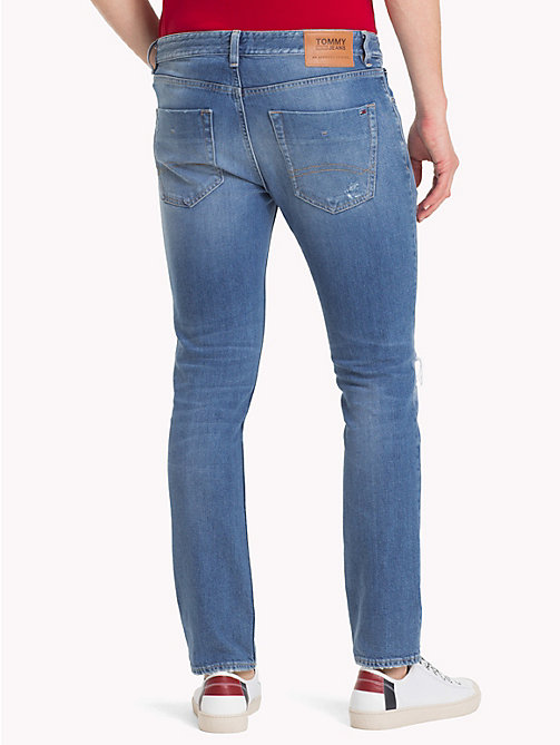 TOMMY JEANS Distressed Slim Fit Jeans - RAY LIGHT BL COM DST - TOMMY JEANS Jeans - detail image 1