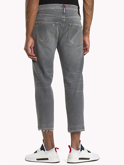 TOMMY JEANS Distressed Cropped Fit Jeans - TJ GREY COMF - TOMMY JEANS Straight Fit Jeans - detail image 1