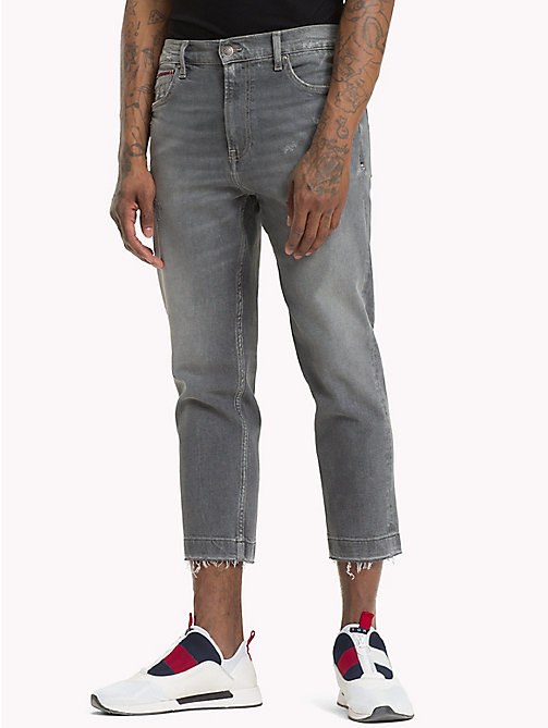 TOMMY JEANS Distressed Cropped Fit Jeans - TJ GREY COMF - TOMMY JEANS Straight Fit Jeans - main image