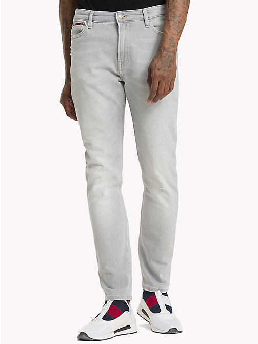 TOMMY JEANS Distressed Skinny Fit Jeans - COINS GREY STRETCH DESTR - TOMMY JEANS Skinny Jeans - main image