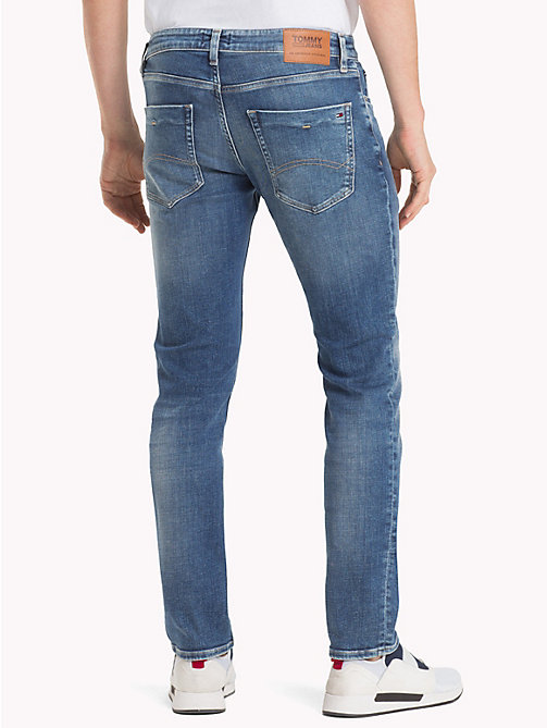 TOMMY JEANS Jeans slim fit con scoloriture Scanton - PANEL MID BLUE STRETCH - TOMMY JEANS Jeans - dettaglio immagine 1
