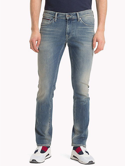 TOMMY JEANS Faded Slim Fit Jeans - ROUTE SIX LIGHT BLUE COMFORT - TOMMY JEANS Slim Fit Jeans - main image