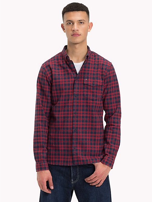 TOMMY JEANS Woven Check Shirt - SAMBA / MULTI - TOMMY JEANS Shirts - main image