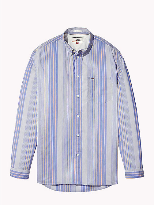 TOMMY JEANS Striped Relaxed Fit Shirt - BLACK IRIS / MULTI - TOMMY JEANS Shirts - detail image 1