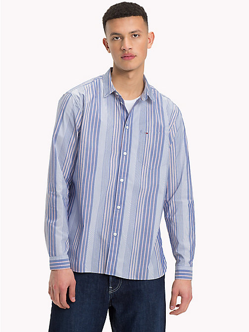 TOMMY JEANS Striped Relaxed Fit Shirt - BLACK IRIS / MULTI - TOMMY JEANS Shirts - main image