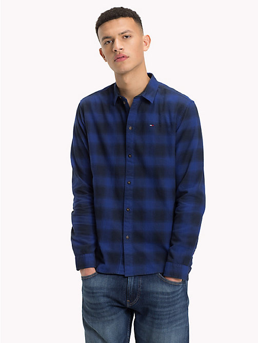 TOMMY JEANS Gingham Check Shirt - SURF THE WEB - TOMMY JEANS Shirts - main image