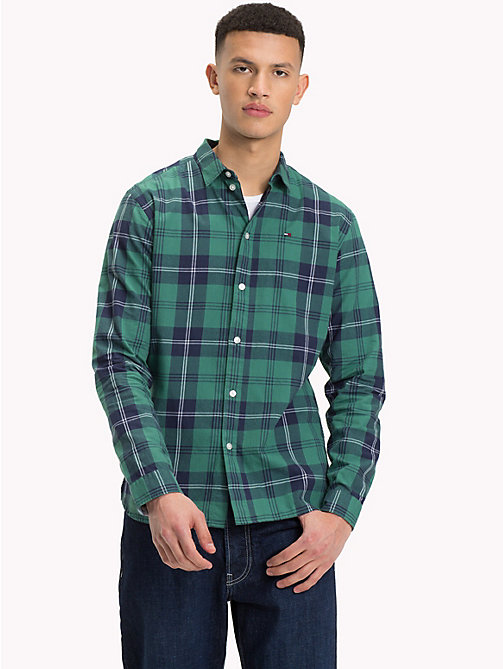 TOMMY JEANS Essential Checked Shirt - BLACK IRIS MULTI - TOMMY JEANS Trending - main image