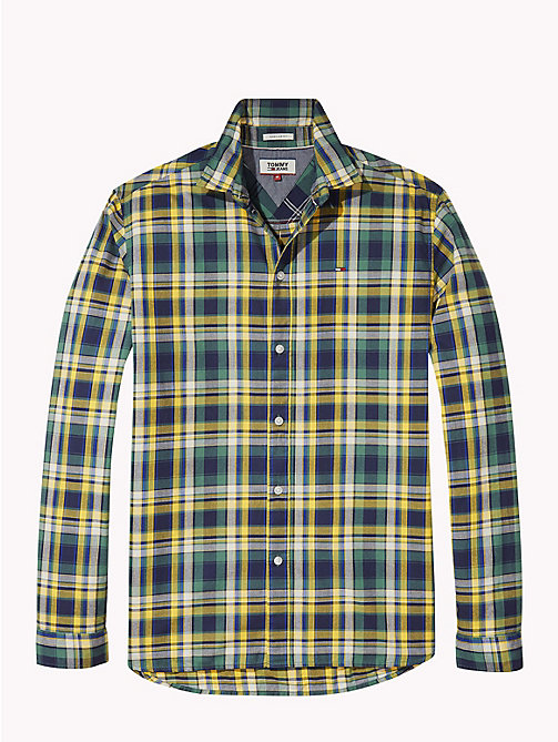 TOMMY JEANS Essential Checked Shirt - SPECTRA YELLOW / MULTI - TOMMY JEANS Shirts - detail image 1