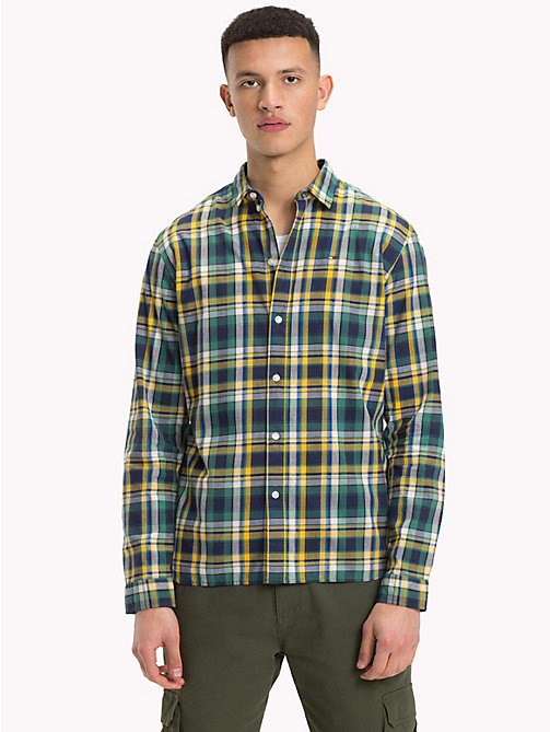 TOMMY JEANS Essential Checked Shirt - SPECTRA YELLOW / MULTI - TOMMY JEANS Trending - main image