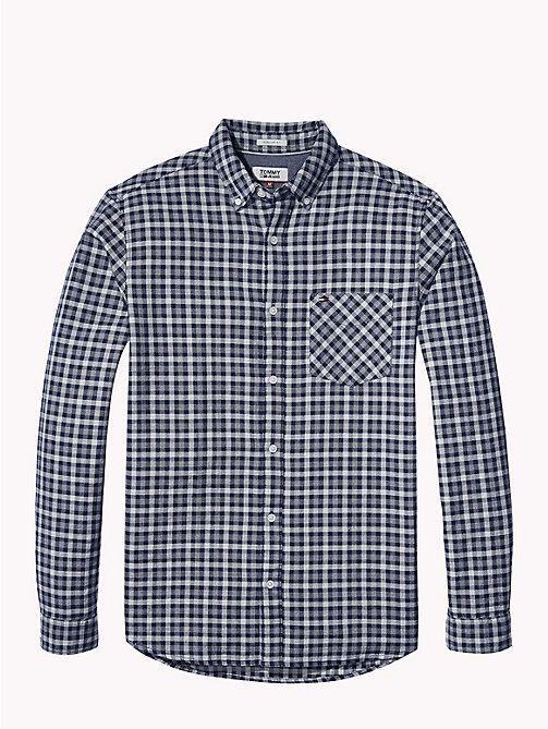 TOMMY JEANS Micro Print Regular Fit Shirt - LT GREY HTR - TOMMY JEANS Shirts - detail image 1