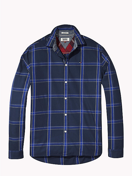 TOMMY JEANS Woven Large Check Shirt - BLACK IRIS MULTI - TOMMY JEANS Shirts - detail image 1