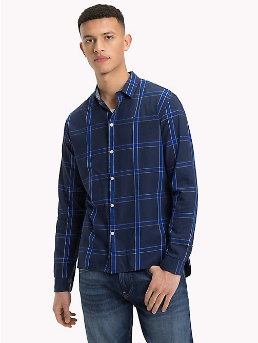 TOMMY JEANS Woven Large Check Shirt - BLACK IRIS MULTI - TOMMY JEANS Shirts - main image