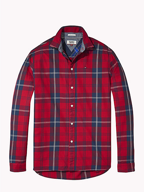 TOMMY JEANS Woven Large Check Shirt - SAMBA / MULTI - TOMMY JEANS Shirts - detail image 1