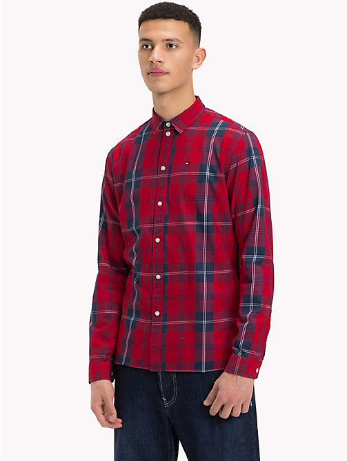 TOMMY JEANS Woven Large Check Shirt - SAMBA / MULTI - TOMMY JEANS Shirts - main image