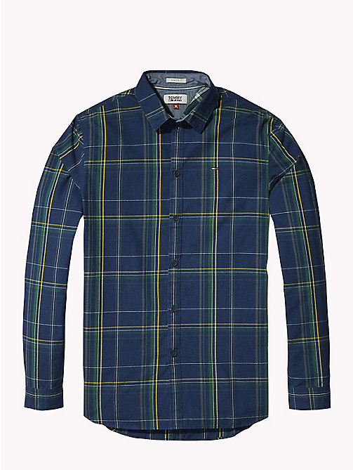 TOMMY JEANS All-Over Print Shirt - INDIGO BIG CHECK - TOMMY JEANS Shirts - detail image 1