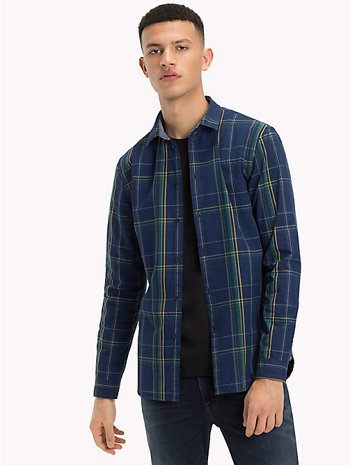 TOMMY JEANS All-Over Print Shirt - INDIGO BIG CHECK - TOMMY JEANS Shirts - main image