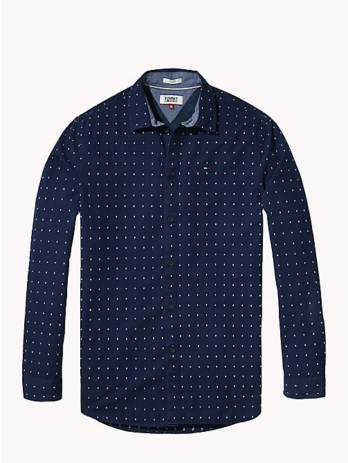 TOMMY JEANS All-Over Print Shirt - INDIGO DOBBY -  Shirts - detail image 1