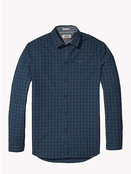 TOMMY JEANS All-Over Print Shirt - INDIGO TEXTURE - TOMMY JEANS Shirts - detail image 1