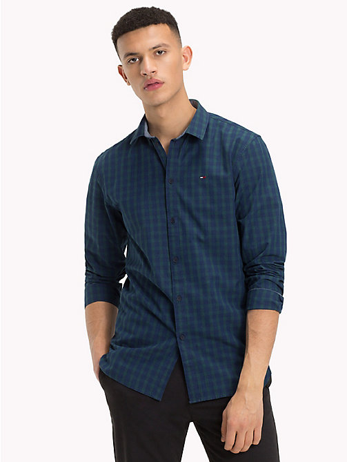 TOMMY JEANS All-Over Print Shirt - INDIGO TEXTURE - TOMMY JEANS Shirts - main image