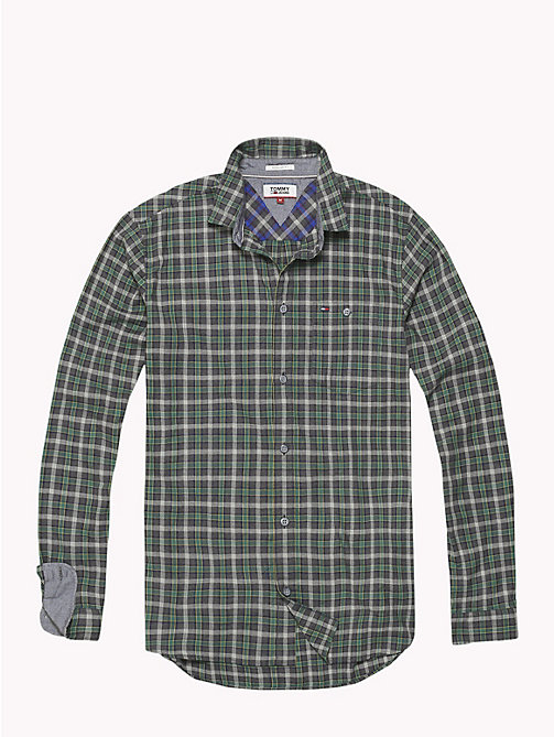 TOMMY JEANS Herringbone Weave Check Shirt - HUNTER GREEN / MULTI - TOMMY JEANS Shirts - detail image 1