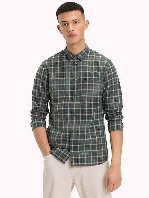 TOMMY JEANS Herringbone Weave Check Shirt - HUNTER GREEN / MULTI - TOMMY JEANS Trending - main image