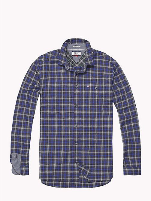TOMMY JEANS Herringbone Weave Check Shirt - SURF THE WEB / MULTI - TOMMY JEANS Shirts - detail image 1