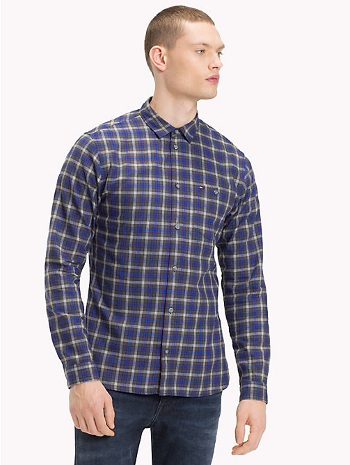 TOMMY JEANS Herringbone Weave Check Shirt - SURF THE WEB/MULTI - TOMMY JEANS Trending - main image