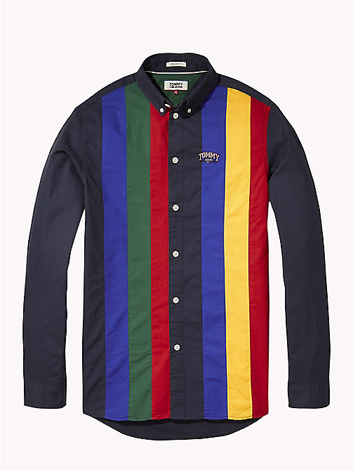 TOMMY JEANS Retro Stripe Relaxed Fit Shirt - BLACK IRIS / MULTI - TOMMY JEANS Shirts - detail image 1