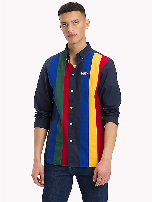 TOMMY JEANS Retro Stripe Relaxed Fit Shirt - BLACK IRIS / MULTI - TOMMY JEANS Shirts - main image