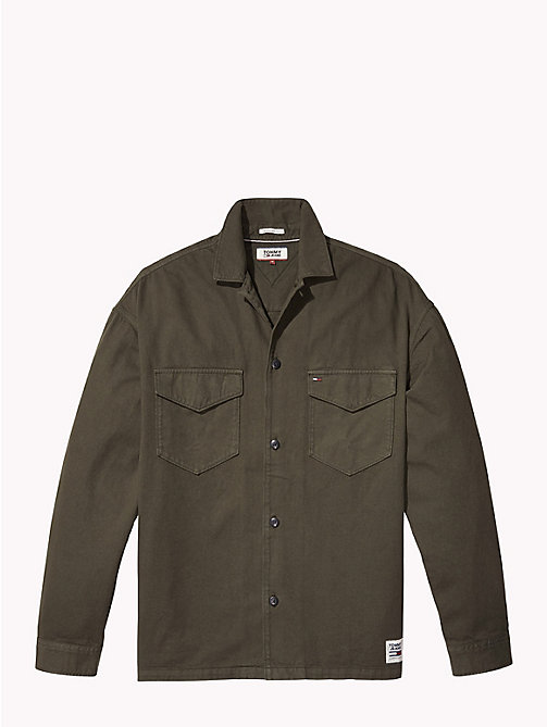 TOMMY JEANS Tommy Jeans Logo Overshirt - FOREST NIGHT - TOMMY JEANS Shirts - detail image 1