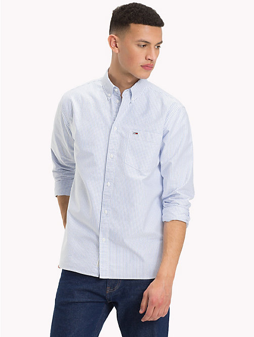 TOMMY JEANS Tommy Classics Stripe Shirt - CLASSIC WHITE / MULTI - TOMMY JEANS Tommy Classics - main image