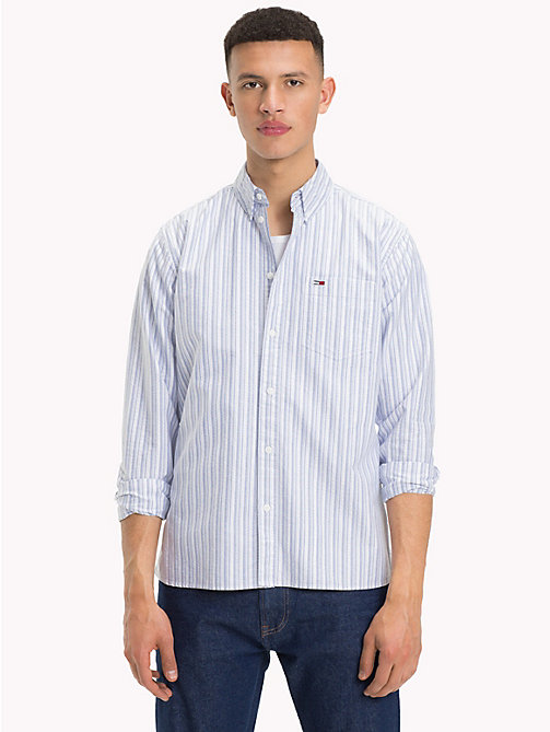 TOMMY JEANS Tommy Classics Stripe Shirt - SURF THE WEB/MULTI - TOMMY JEANS Tommy Classics - main image
