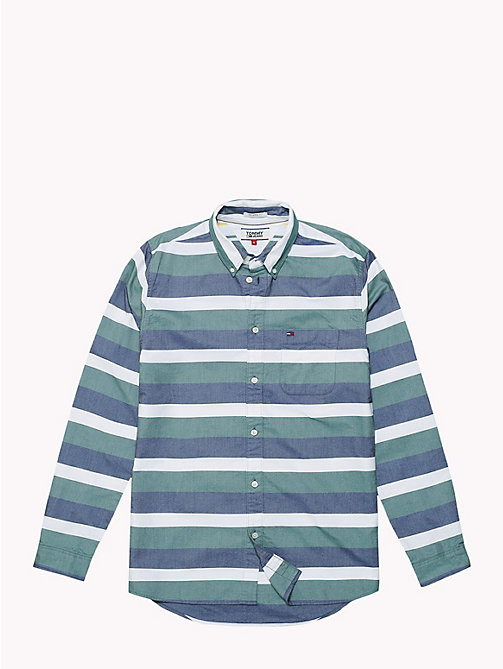 TOMMY JEANS Multi-Colour Stripe Print Shirt - BLACK IRIS MULTI - TOMMY JEANS Shirts - detail image 1