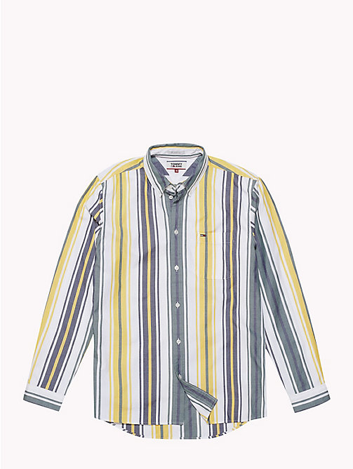 TOMMY JEANS Multi-Colour Stripe Print Shirt - CLASSIC WHITE / MULTI - TOMMY JEANS Shirts - detail image 1