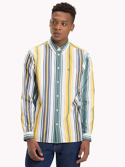 TOMMY JEANS Multi-Colour Stripe Print Shirt - CLASSIC WHITE / MULTI - TOMMY JEANS Shirts - main image