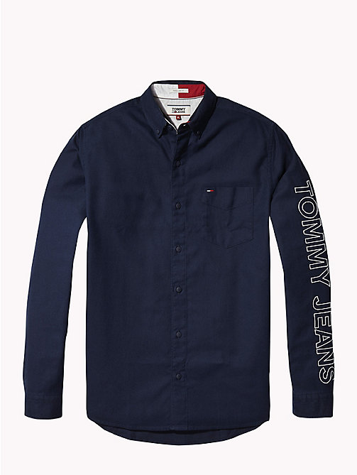 TOMMY JEANS Tommy Jeans Sleeve Logo Shirt - BLACK IRIS - TOMMY JEANS Shirts - detail image 1