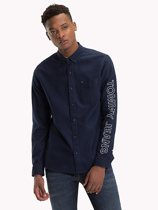 TOMMY JEANS Tommy Jeans Sleeve Logo Shirt - BLACK IRIS - TOMMY JEANS Shirts - main image