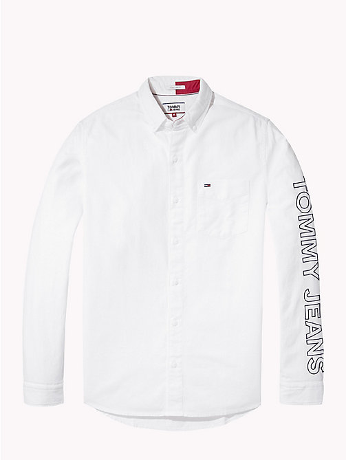 TOMMY JEANS Tommy Jeans Sleeve Logo Shirt - CLASSIC WHITE - TOMMY JEANS Shirts - detail image 1