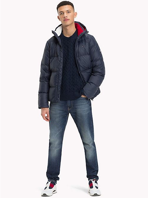 TOMMY JEANS Parka con cappuccio - BLACK IRIS - TOMMY JEANS Sustainable Evolution - dettaglio immagine 1