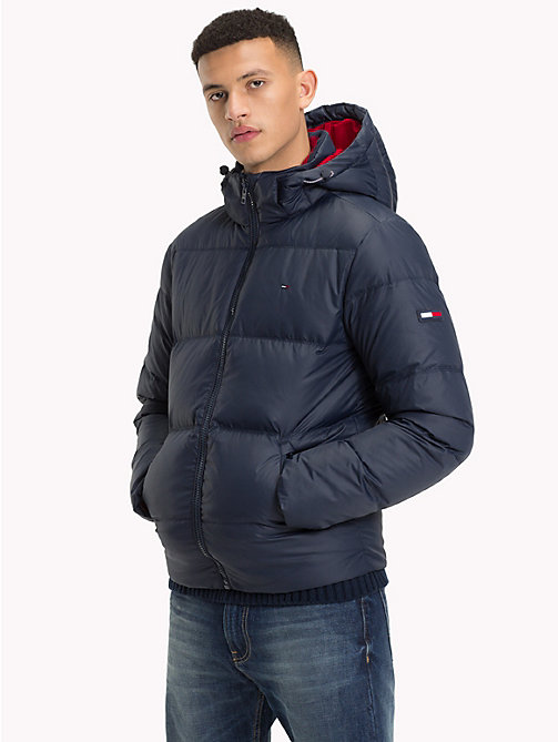 TOMMY JEANS Parka con cappuccio - BLACK IRIS - TOMMY JEANS Sustainable Evolution - immagine principale