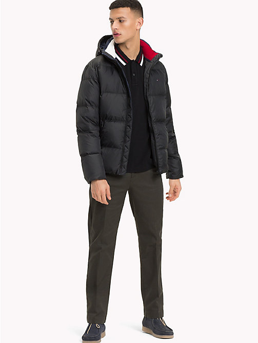 TOMMY JEANS Parka con cappuccio - TOMMY BLACK - TOMMY JEANS Sustainable Evolution - dettaglio immagine 1