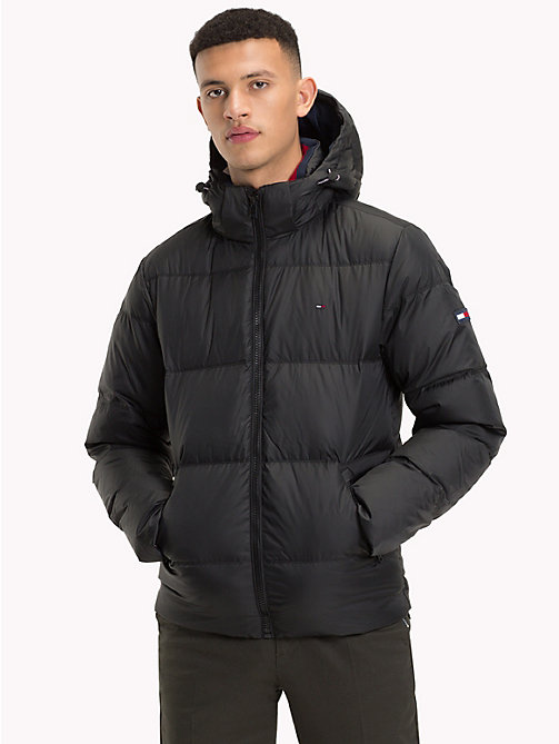 TOMMY JEANS Hooded Parka Jacket - TOMMY BLACK - TOMMY JEANS Sustainable Evolution - main image