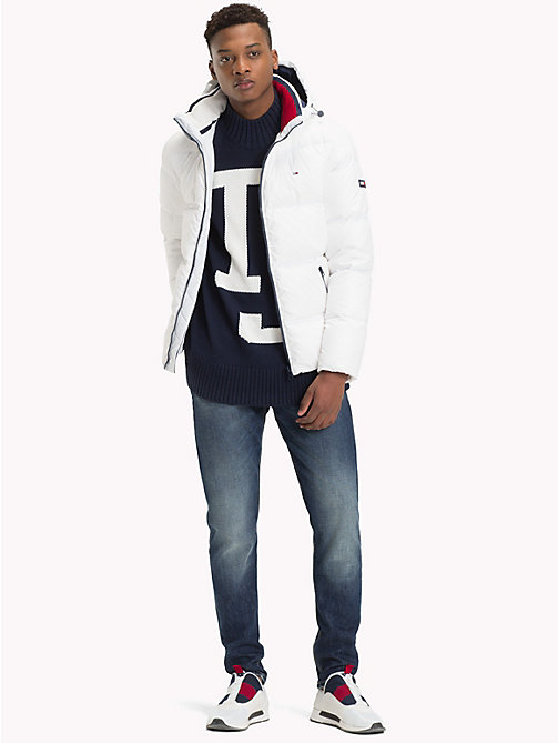 TOMMY JEANS Parka con cappuccio - CLASSIC WHITE - TOMMY JEANS Sustainable Evolution - dettaglio immagine 1