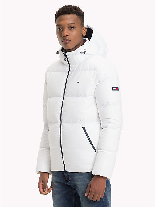 TOMMY JEANS Hooded Parka Jacket - CLASSIC WHITE - TOMMY JEANS Sustainable Evolution - main image