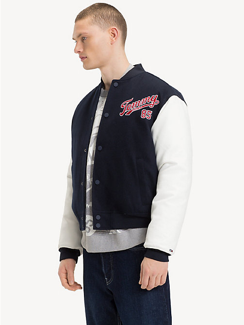 TOMMY JEANS Bomber stile college - BLACK IRIS / CLASSIC WHITE - TOMMY JEANS Cappotti & Giacche - immagine principale