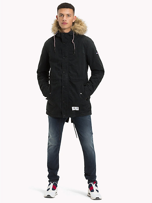 TOMMY JEANS Lined Hooded Parka Jacket - TOMMY BLACK - TOMMY JEANS Coats & Jackets - detail image 1