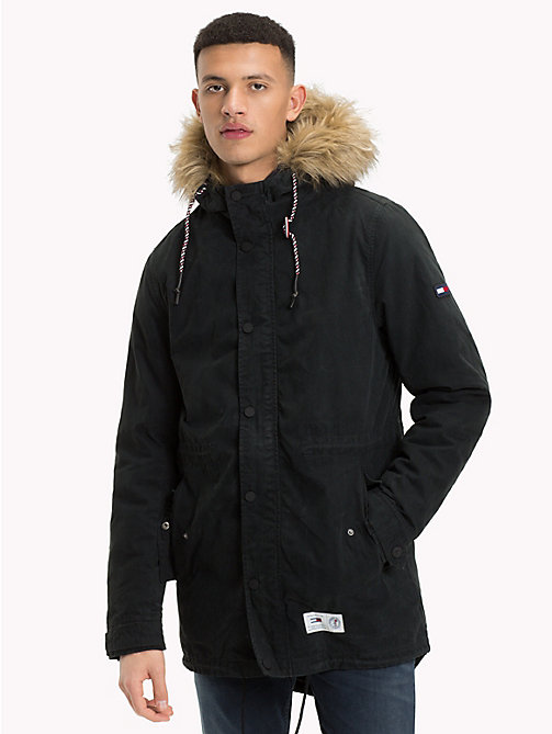 TOMMY JEANS Lined Hooded Parka Jacket - TOMMY BLACK - TOMMY JEANS Coats & Jackets - main image