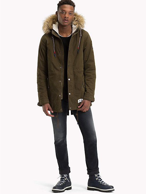 TOMMY JEANS Lined Hooded Parka Jacket - FOREST NIGHT - TOMMY JEANS Coats & Jackets - detail image 1