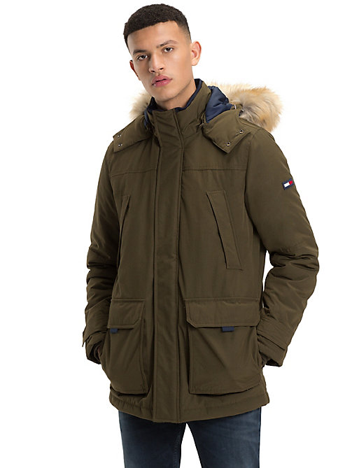 TOMMY JEANS Tommy Jeans Hooded Parka - FOREST NIGHT - TOMMY JEANS Coats & Jackets - main image